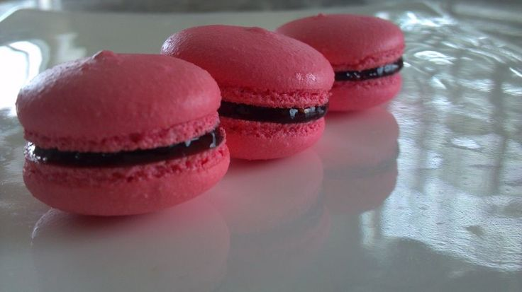 Cherry Cordial Macarons Recipe — Dishmaps