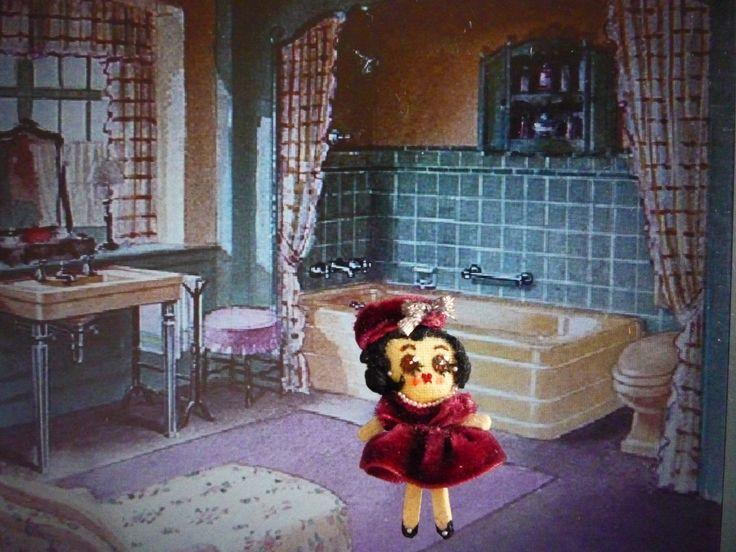 "50's Muñeca de trapo miniatura (1 1/2""). Miniature rag doll (1 1/2""). By Georgina Verbena"