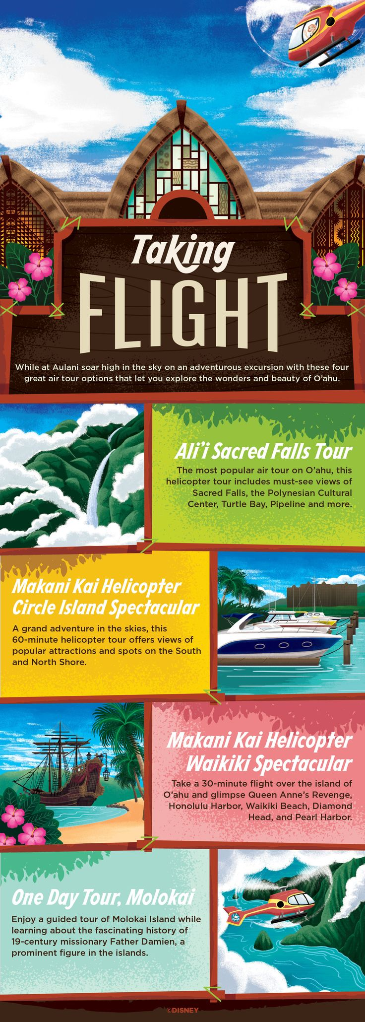 While at Aulani, set forth on a guided tour that takes you to some of the most spectacular sights on O'ahu including Waimea Falls and Diamond Head Crater!