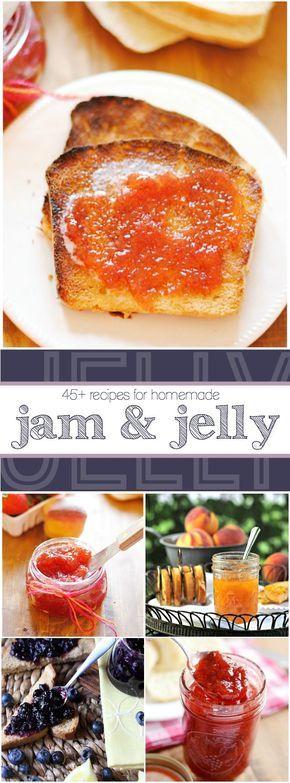 45+ Jams and Jellies http://www.somethingswanky.com/45-jams-and-jellies/?utm_campaign=coschedule&utm_source=pinterest&utm_medium=Something%20Swanky&utm_content=45%2B%20Jams%20and%20Jellies