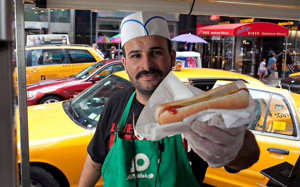 NYC Hot Dog Vendors: Interesting, most of us aren't eating them! Good article - The Hot Dog, Redefined One Cart at a Time - NYTimes.com