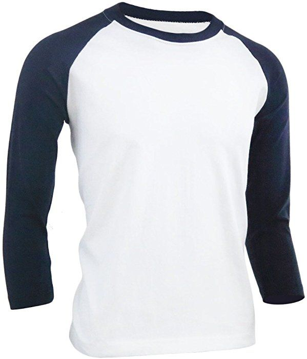 Download Bcpolo Crew Neck Shirt Baseball Tee 3 4 Raglan Sleeve 100 Cotton T Shirt Navy Xs Amazon Com Casual Wear For Men Mens Outfits Design Kaos