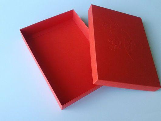 Купить Коробка для картины 18х13х3 см. - коробочка, коробка для подарка, красная коробка, коробка для иконы
