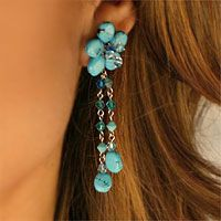Blossom Earings: Artisan Succeed, Blossoms Ears, Blossoms Blessed, Turquoise Floral, Turquoi Floral, Artisan Worldwid, Floral Earrings, Floral Jewelry, Amazing Jewelry