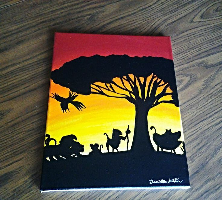 Disney S The Lion King Acrylic Paint On Canvas 11 Quot X 14