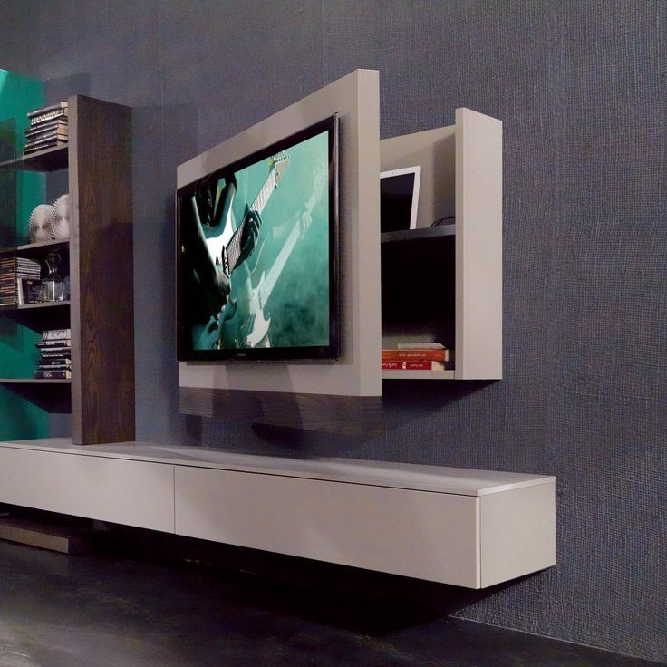 Rack Tv Furniture Hanging Swiveling And Opening Arredaclick