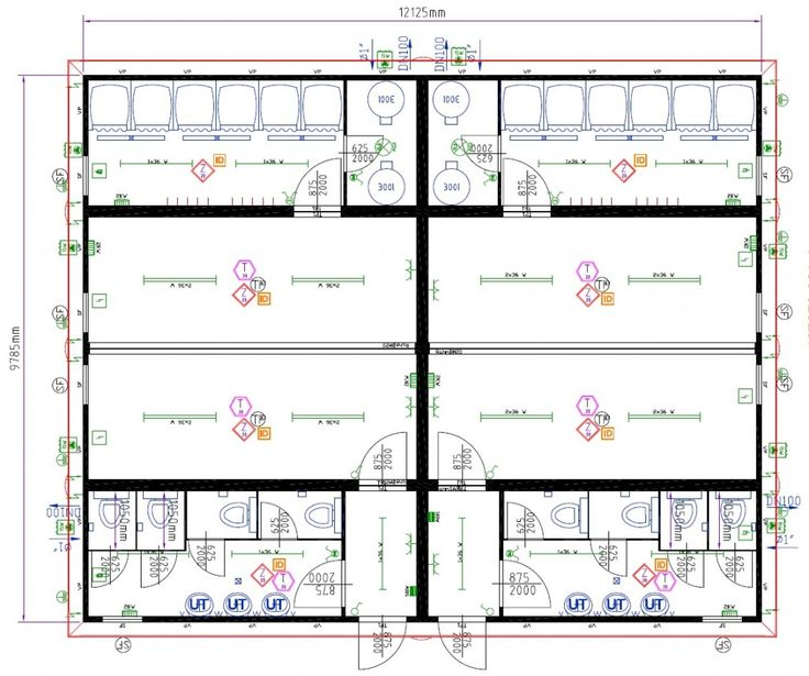 Large Modular 2 Team Changing Rooms With Showers And