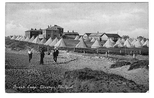 Wilkinson's Beach Camp Cleveleys, Blackpool. Very nice image from 1928 c. | eBay