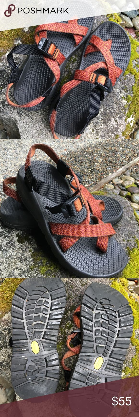 Women's Chaco Sandals Rust/orange classic Chaco sandals. Women's size 9. In excellent condition, not worn much. Chacos Shoes Sandals