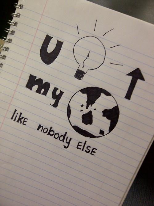you light up my worldddd (:
