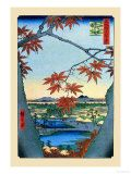 The Maple Trees Poster af Ando Hiroshige