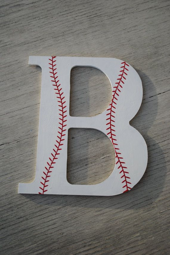 Boys Baseball Decorative Wooden Wall Letter on Etsy, $12.00