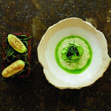 Cucumber seed risotto   FOUR Magazine