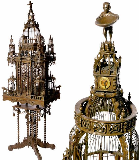 Stunning Victorian birdcage, this is so awesome and detailed it almost feels like a crime to keep birds in here.