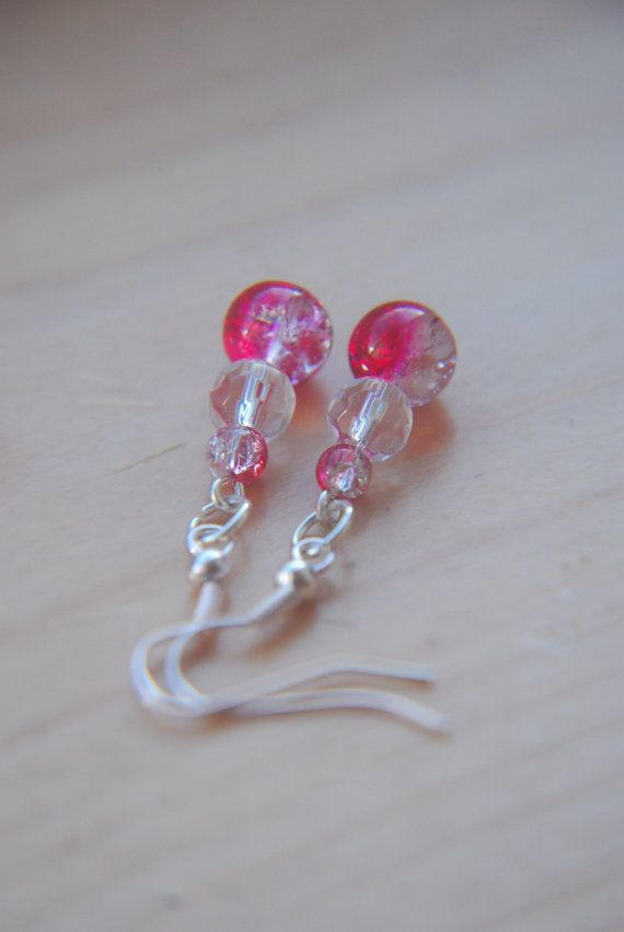 Hey, I found this really awesome Etsy listing at https://www.etsy.com/listing/212572276/red-beaded-christmas-earrings-plastic