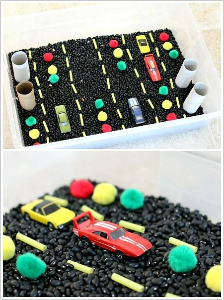 Sensory Play for Kids: Car-Themed Sensory Bin