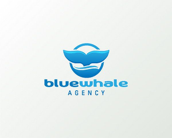blue whale agency 22 Intelligent Logo Design Ideas For Your Browsing Pleasure