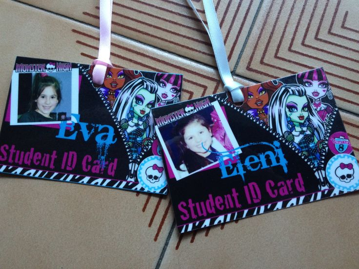 Monster High Student ID's  prettypartypaperink@icloud.com www.prettypartypaperink.com