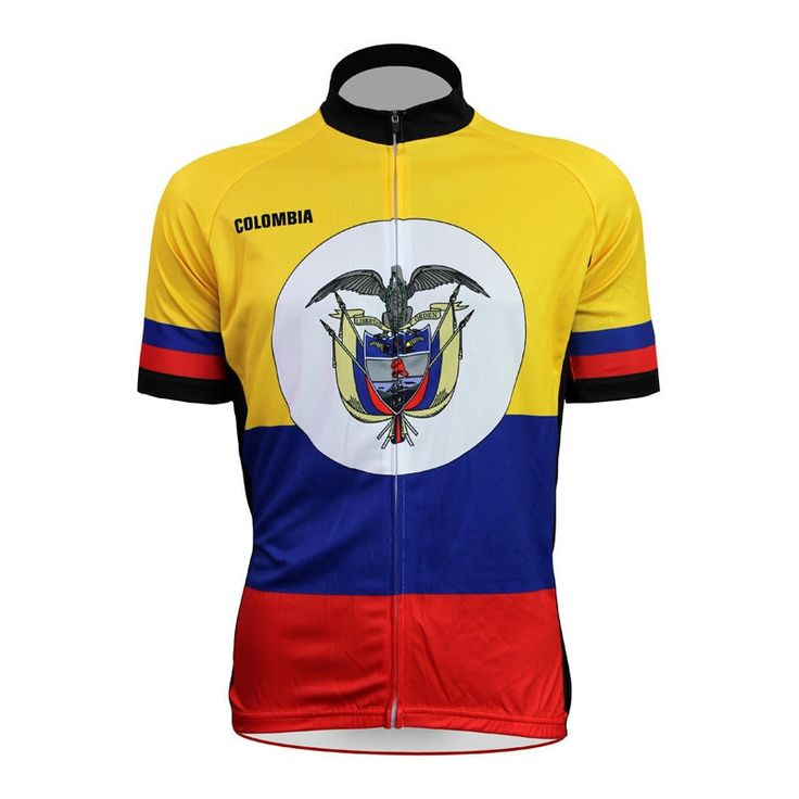 52.56$  Buy here - http://ali9yh.shopchina.info/1/go.php?t=32799125215 - Cycling shirt bike equipment Colombian Flag Pattern Men Summer Breathable top Sleeve Bicycle Jerseys Yellow Full Zipper Cycling 52.56$ #aliexpresschina