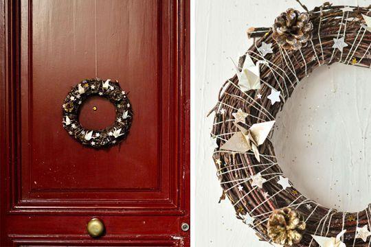 Une décoration de Noël à faire soi-même : photos pour trouver des idées - Côté Maison