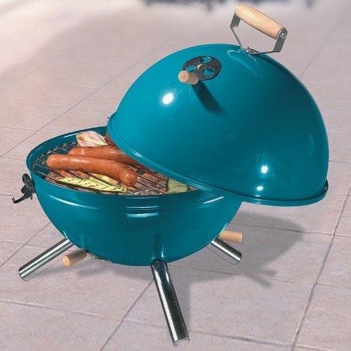 Kugelgrill, Grill, Holzkohlegrill, Picknickgrill - tragbar - Farbe: Aqua von TP-Products, http://www.amazon.de/dp/B00CD0RYCC/ref=cm_sw_r_pi_dp_1EzHrb1CW0ZH3