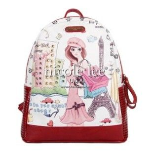 @nicoleleeusa I am IN LOVE with this shopping girl print backpack. Would it work for me for school? I  so many of you things. #shopping #paris #backtoschoolbling #love #DogwithaBlog #DWAB