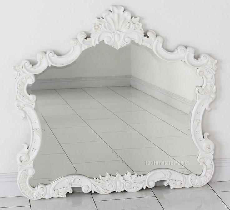 Large White Wall Mirror best 25+ overmantle mirror ideas on pinterest | mirror above