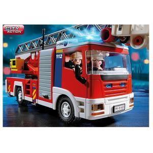 PLAYMOBIL 4820 Camion de pompiers grande échelle - Achat / Vente VOITURE - CAMION PLAYMOBIL 4820 Camion pompiers - Cdiscount