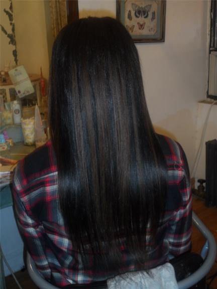 after Cambodian virgin hair application