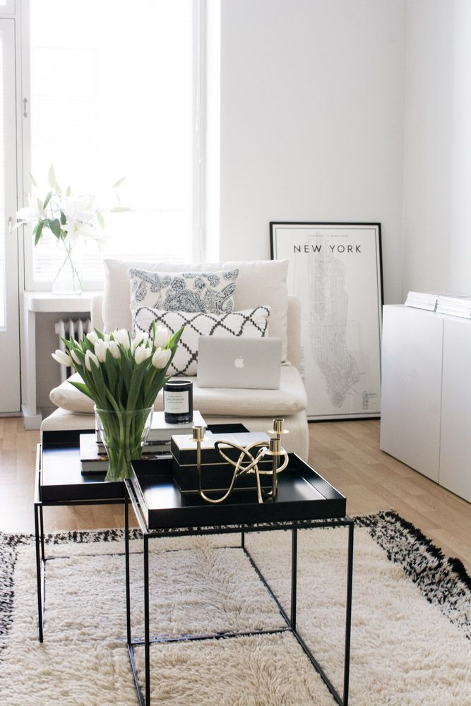 white living room. #home #interior #decor