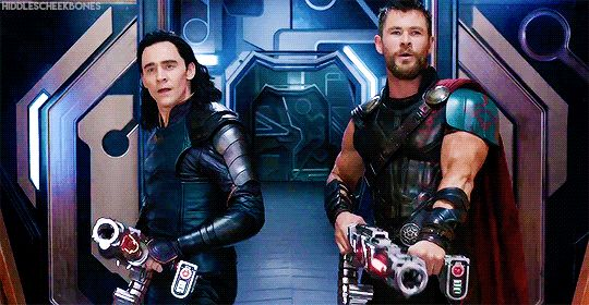 "<><> I LOVE how Loki says ""hi"" super casually. And Thor's grin. XD I cannot WAIT for this movie. I hope it's clean, 'cause I wanna see it in theaters but my parents are rather picky. I didn't get to see Spider-Man because of certain content."
