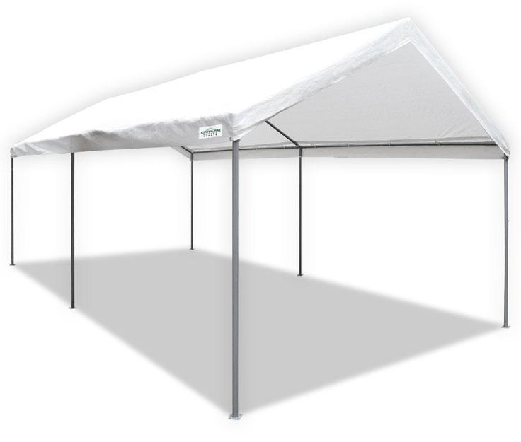 White Canopy Carport Tent Shelter Garage Caravan 10X20 Feet Outdoor Party Shade #VIPselleRWarehouse