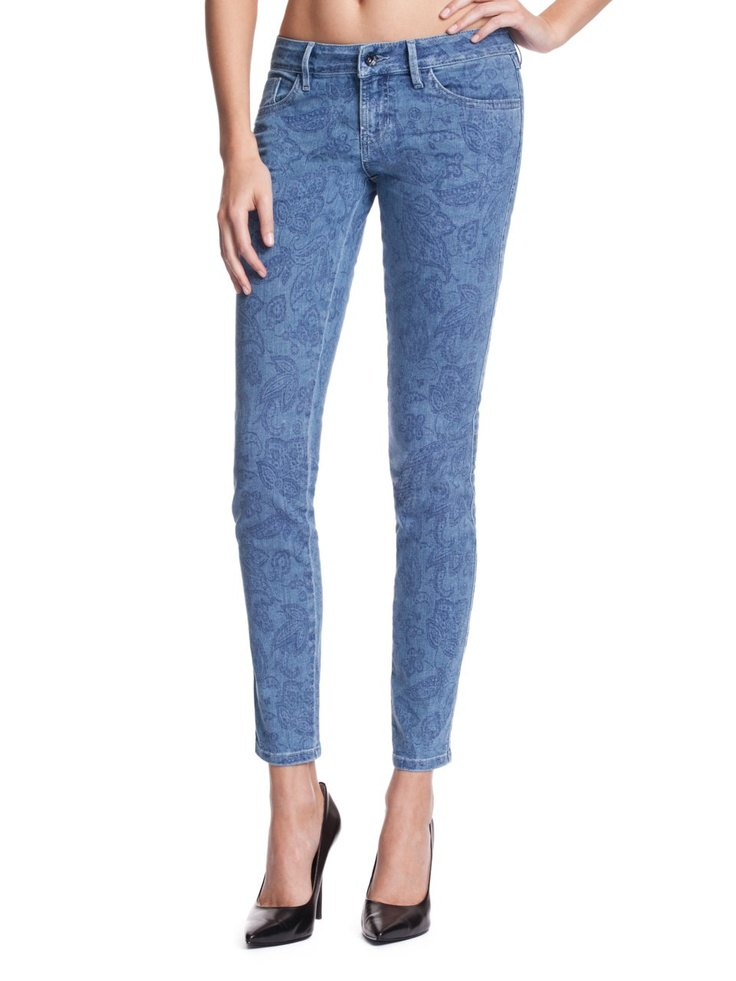 GUESS Brittney Ankle Skinny Jeans with Paisley, UPDATE WASH (26)