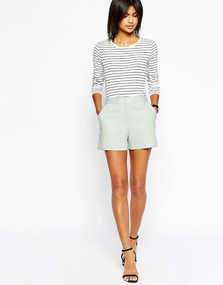 ASOS+Tailored+A-Line+Short+in+Linen