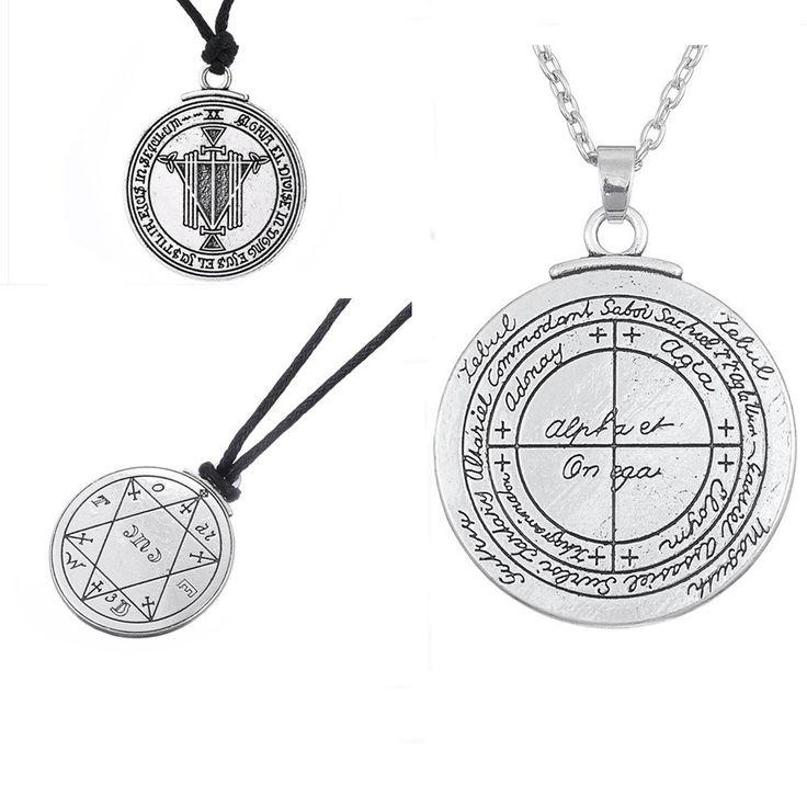 Dawapara Bijoux Talisman For Good Luck  Pentacle Seal Pagan Wiccan Jewelry Supernatural Amulet Necklace Men Pendant