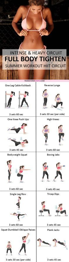 Repin and share if this workout built you a sexy body! Read the post for all the workouts!