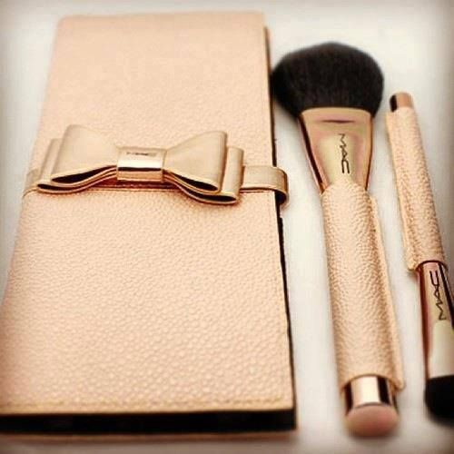 MAC Makeup accessories....they're so pretty I would be afraid to actually use the brushes
