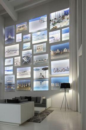 Design Idee Wand Bilder Beleuchtung Modern Einrichtung