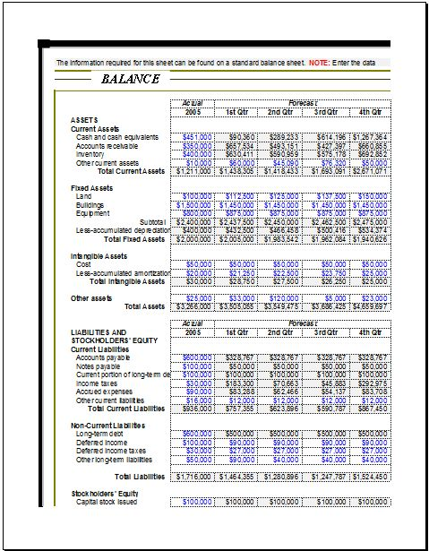 funds tracking balance sheet DOWNLOAD at http\/\/wwwxltemplates - balance sheet