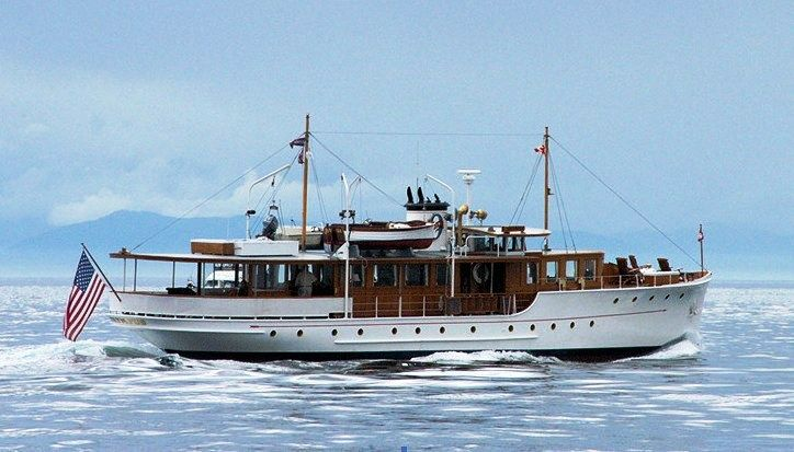 """""""OLYMPUS"""" a Classic (92') Wooden Fantail Motor Yacht Launched in 1929 (2)"""