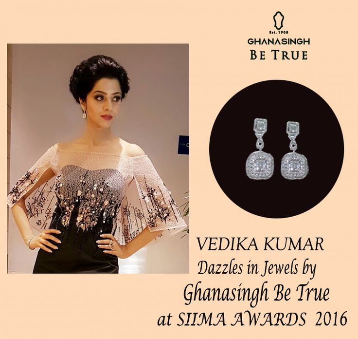 VEDHIKA KUMAR DAZZLES IN JEWELS BY GHANASINGH BE TRUE AT SIIMA AWARDS 2016.