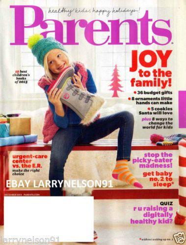 PARENTS MAGAZINE DECEMBER 2013 BEST CHILDRENS BOOKS URGENT CARE VS ER GIFTS KIDS