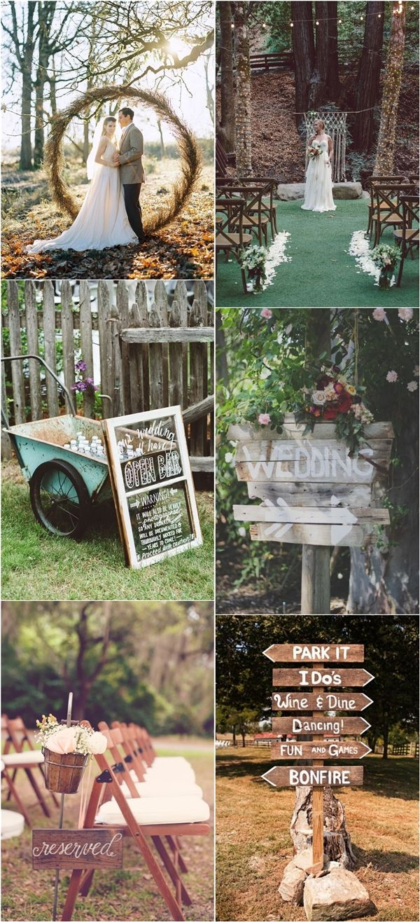 Chic Rustic Country Wedding Themes Ideas