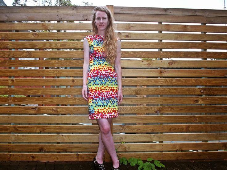 I'm a big fan of colour, so when I saw this fabric at Spotlight I had to buy it. Antipodean Stitcher: Technicolour Sheath Dress