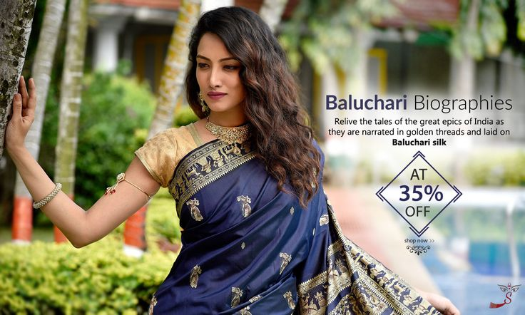 Legendary #BaluchariSarees from Bengal at 30% OFF!