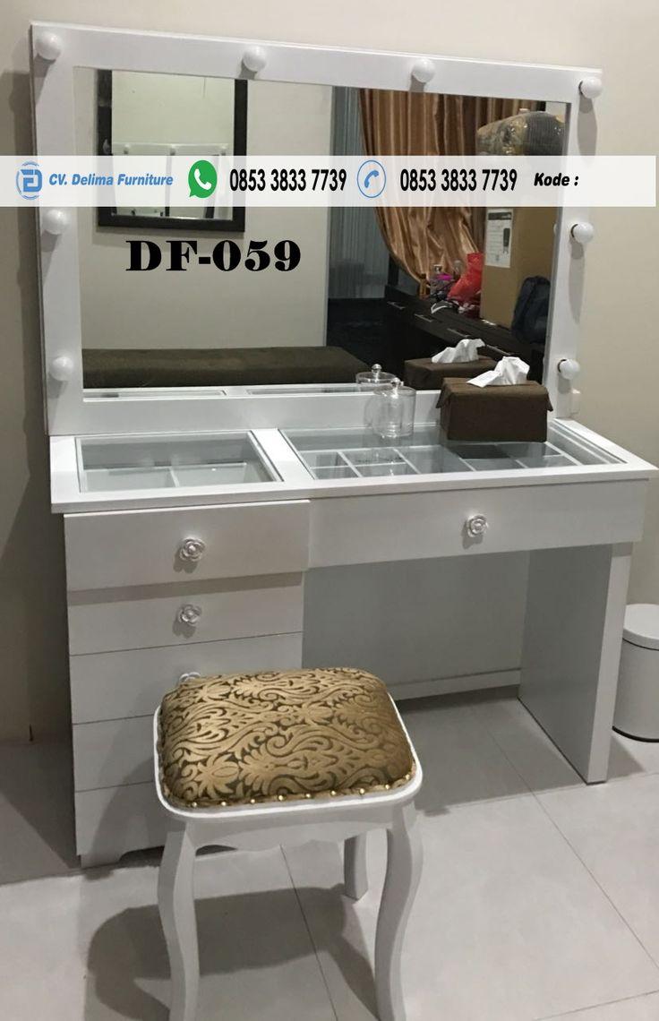 Meja Rias Lampu Putih Laci Sebelah Jual Meja Makup Artis Meja Ris Untuk  Salon Dan Wedding