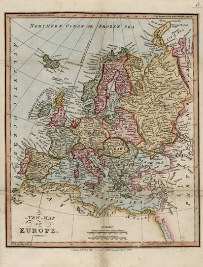 A new map of Europe [Material cartográfico] | 1818 | Biblioteca Digital De Madrid | Public Domain Marked