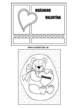 Valentínske pohľadnice - Aktivity pre deti, pracovné listy, online testy a iné