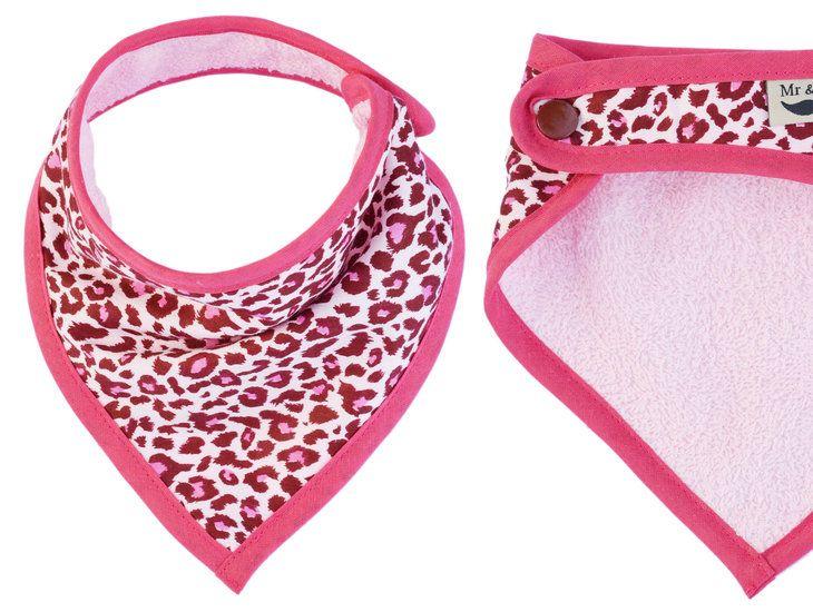 slabbetje luipaard roze