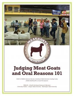 """Cover image of """"Judging Meat Goats and Oral Reasons"""""""